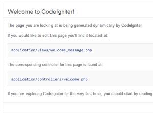 Codeigniter installing xampp