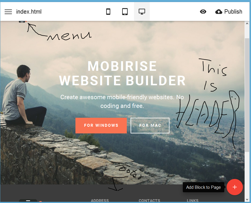 Mobirise-header-footer-added