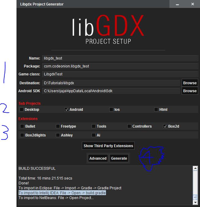 LibGDX android Setup